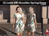 [S] Lexie Off-Shoulder Spring Dress Stripes