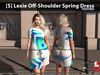 [S] Lexie Off-Shoulder Spring Dress Feather
