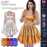 DEMO - LMC Mesh - Summer Dress III - Tiered Volant Dress DEMO