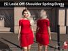 [S] Lexie Off-Shoulder Spring Dress Red