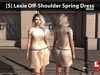 [S] Lexie Off-Shoulder Spring Dress Beige