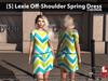 [S] Lexie Off-Shoulder Spring Dress Chevron