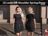 [S] Lexie Off-Shoulder Spring Dress Black