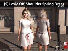 [S] Lexie Off-Shoulder Spring Dress White