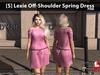 [S] Lexie Off-Shoulder Spring Dress Pink