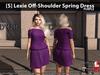 [S] Lexie Off-Shoulder Spring Dress Purple
