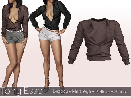 Tony Esso -  Felicia Shirt  (Coffe)