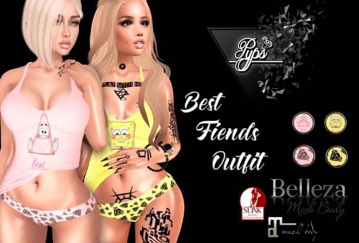 .::Pyps::. Best Fiends Outfit (Maitreya Slink Belleza)