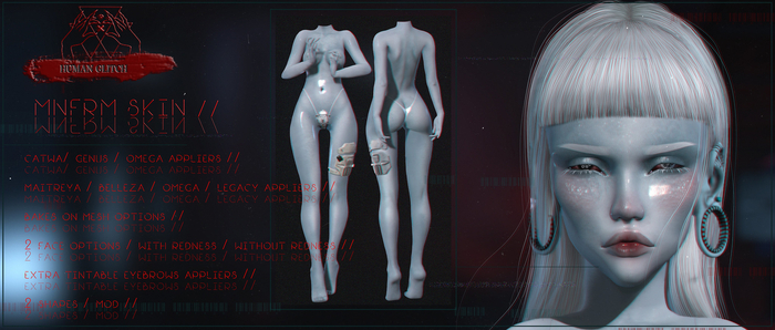 HUMAN GLITCH // MNFRM / SKIN (wear)