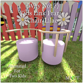 {Why Not ?} Kids Link Frame Chair-Lilac-Boxed