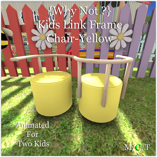 {Why Not ?}  Kids Link Frame Chair-Yellow_Boxed