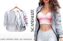 SCANDALIZE. Casandra Cardigan. White