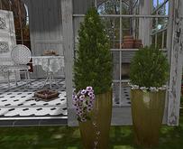 CJ Evergreen cone+round with Magnolia Planter 2er Set - add