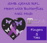 SHB GEMS RFL Ribbon of Butterflies Nail HUD Maitreya ONLY