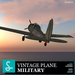 Military Vintage propeller plane (airforce)