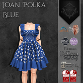 **Mistique** Joan Polka Blue (wear me and click to unpack)