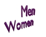 3D BOX women / men font mesh (Copy, Modify yes)