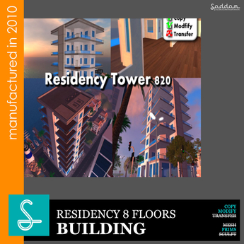 Tower Residency  830P - Sad design REF35 (boxed)