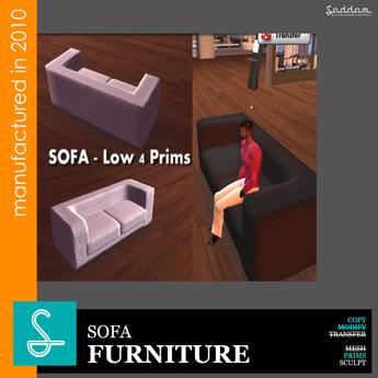 Sofa Black&White LP4 - Furniture