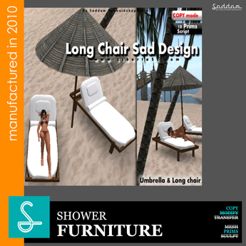 Long Chair and Umbrella  (boxed)