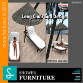 Long Chair and Umbrella - Furniture