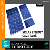 Solar panels - Furniture