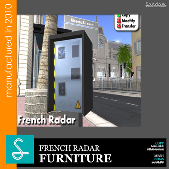 French Radar Cars  - Furniture