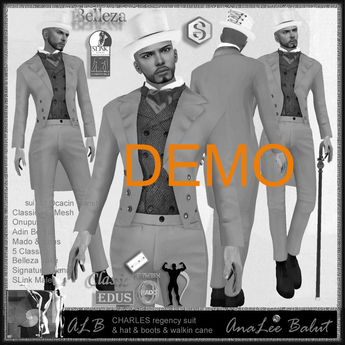 ALB CHARLES regency suit & boots - wearable DEMO by AnaLee Balut