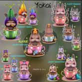 YOKAI - Baby Bunnies In Cups Complete Set/w RARE+ Exclusive
