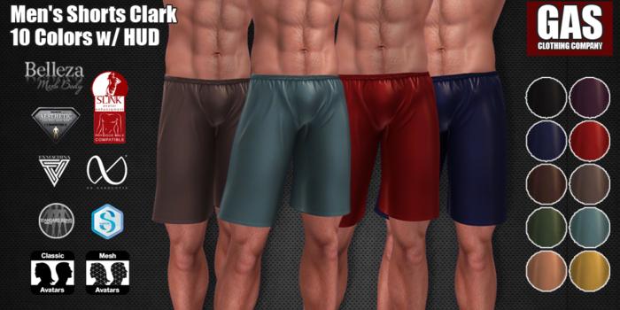 GAS [Men's Shorts Clark - 10 Colors w/HUD FATPACK]