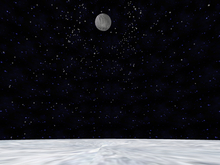 Snowy night sky orb with particles and without partilce