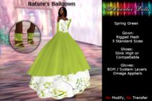-TDolls Mesh- Nature's BallGown in spring green (Cmt-Box)