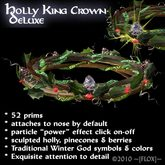 ~[FLOX]~Holly King Crown, deluxe