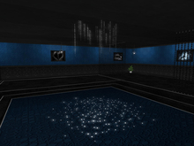 Sinful Lounge Club Skybox Arctic Blue Low Prim with Rez Box