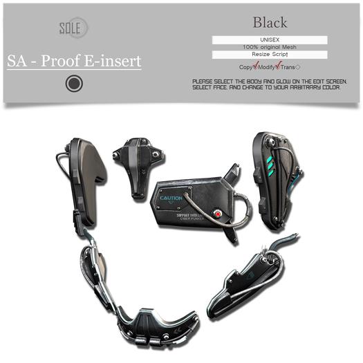 :::SOLE::: SA - Proof E-insert (Black)