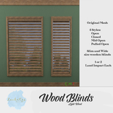 (WEAR TO UNPACK) Zoobatos  - Wooden Blinds (Light)