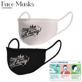 "Unisex Resizeable Mesh, Covid 19 Face Masks "" STAY AWAY "" (Boxed)"