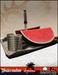 Headhunter 's Island - Watermelon fruit plate / tropical drink dispenser