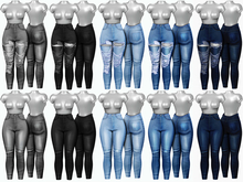 Brittany - Hina Jeans / Destroy - [FATPACK]