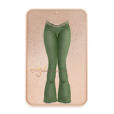 Cynful Keeper Flare Pants - Green