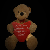 Keep Calm & remember to wash your hands {Teddybear}