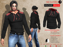 A&D Clothing - Sweatshirt -Deacon- Ebony