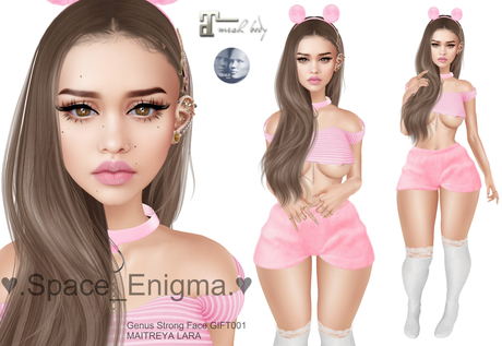 !!!PROMO!!! 10 L .Space_Enigma. Shape Teresa (for Head Genus Strong Face GIFT001)