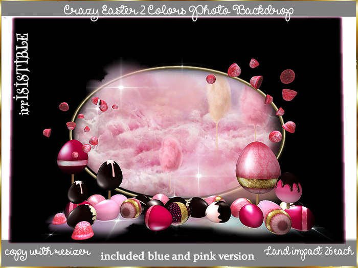 irrISIStible : CRAZY EASTER PHOTO BACKDROP 2 COLORS INCLUDED