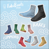 Bleich - Tabi Boots Male Set of Commons Only (Box)