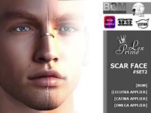 ♕ Lex Prime - Scar Face for Mesh Heads set#2 (Appliers BoM)