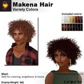 A&A Makena Hair Variety Colors Mesh, curly mesh hair