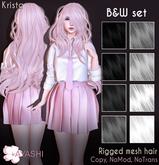 [^.^Ayashi^.^] Krista hair-B&W set