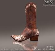 "!MOZ Sweetwater ""Bonita"" Western Boot    * MAITREYA * SLINK * LEGACY * BELLEZA  * TONIC * eBODY * EVE"