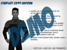 Starfleet 2399 Uniform (Male) - DEMO